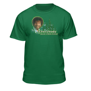 Bob Ross Everybody Needs a Little Friend Graphic T-Shirt
