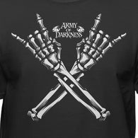 Army of Darkness Rock On Adult Horror Evil Dead T-Shirt - Teelocity.com
