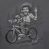 Bob Ross Sketched Riding A Bicycle Licensed T-Shirt