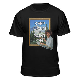 Bob Ross Keep Calm and Paint On Graphic T-shirt