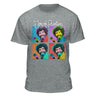 Bob Ross Joy of Painting Colorful Faces Graphic T-shirt