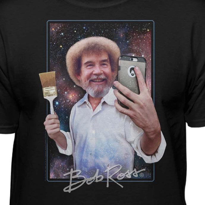 Bob Ross Selfie Licensed T-Shirt