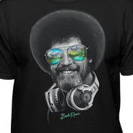 DJ Bob Ross Officially Licensed Headphone & Shades T-shirt
