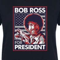 Women's V-neck - Bob Ross For President