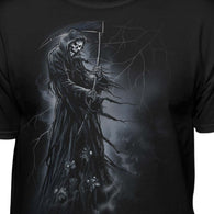 Grim Reaper With Scythe Standing On Souls T-Shirt