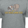 Hagar the Horrible Save Water-Drink-B33r T-Shirt