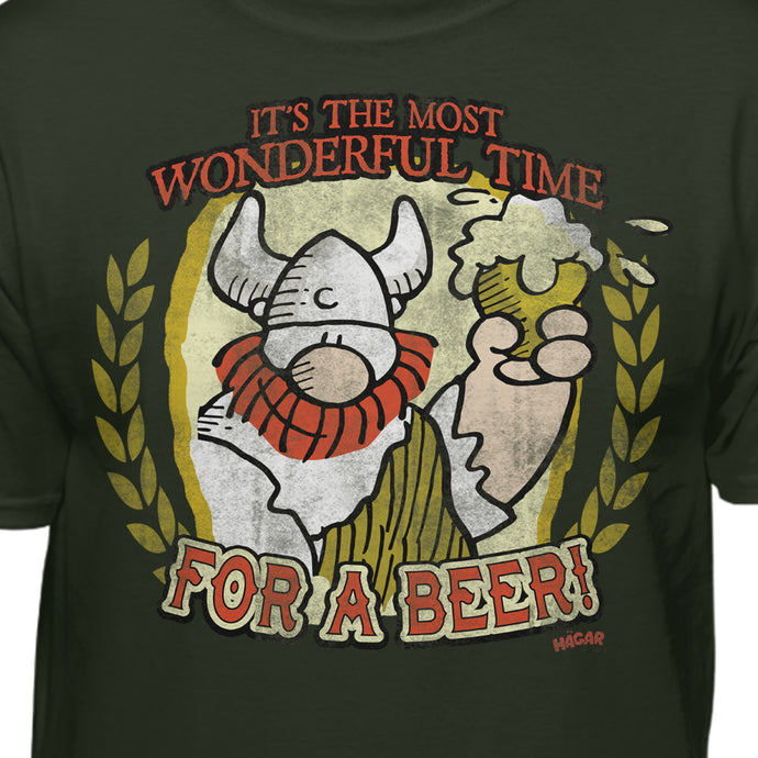 Hagar the Horrible Most Wonderful Time For A B33r Christmas T-Shirt