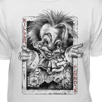 Killer Klowns From Outer Space Official Joker Card Premium Fitted T-shirt