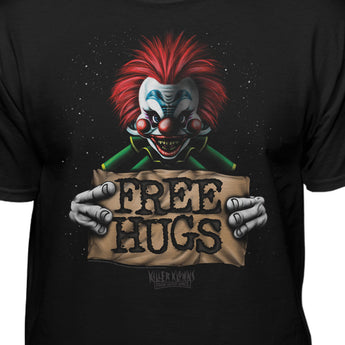 Killer Klowns From Outer Space Official Free Hugs Horror Clowns T-Shirt