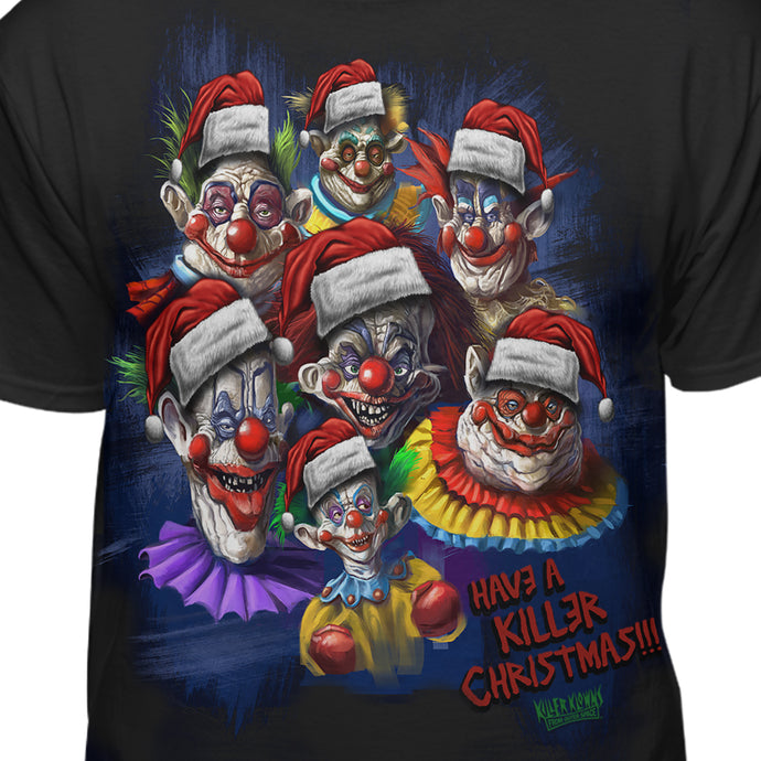 Killer Klowns From Outer Space Have A Killer Christmas Official Licensed T-Shirt