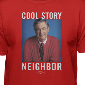 Mister Rogers Cool Story Neighbor Premium Fitted T-shirt