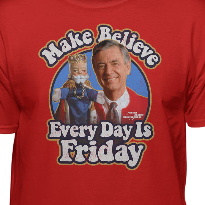 Mister Rogers Make Believe Every Day Is Friday Official Licensed T-shirt