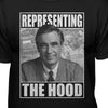 Mister Rogers Representing The Hood Men's Black Premium Fitted T-shirt