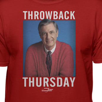 Mister Rogers Neighborhood Red Sweater Throwback Thursday Official Licensed T-Shirt