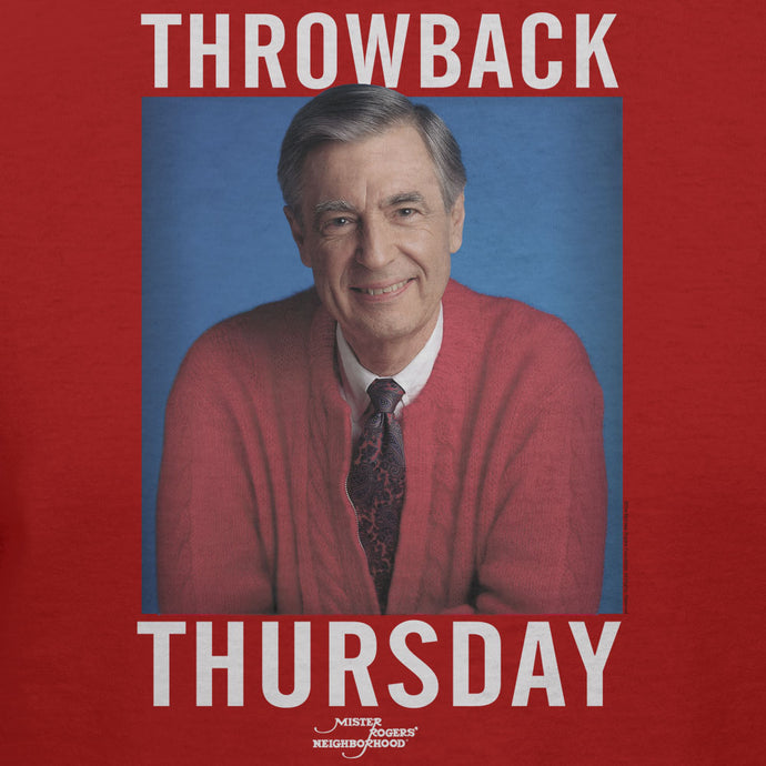 Mister Rogers Neighborhood Red Sweater Throwback Thursday Official