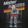Mister Rogers Smiling Leaning on Trolley Premium Fitted T-shirt