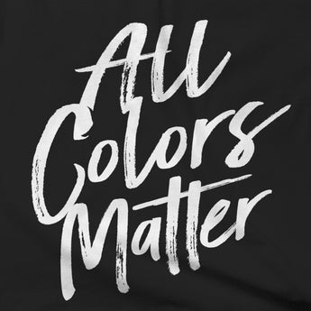 All Colors Matter (White & Black) Peace Unite T-shirt - Teelocity.com