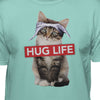 Cat Wearing Bandanna Hug Life T-Shirt