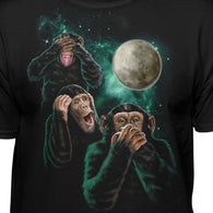 Monkeys In Space Hear No Evil See No Evil Speak No Evil T-Shirt