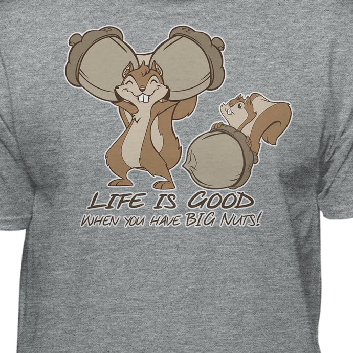 Life is Good Funny Squirrel Nut T-shirt