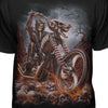 Grim Reaper Riding Flaming Motorcycle Fashion T-shirt