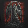 Grim Reaper Skull Angel Wings Chains Ready For Battle In Hell T-Shirt