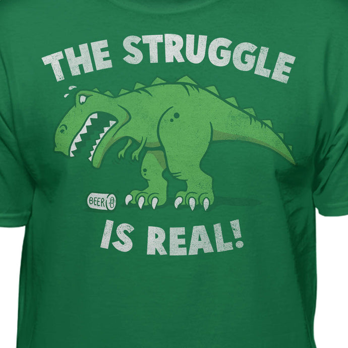 698b9bd5 The Struggle is Real Funny T-rex T-shirt – Teelocity