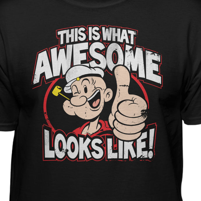Popeye The Sailor Awesome Like Me Official T-shirt
