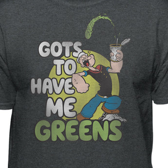 Popeye The Sailor Man Gots To Have Me Greens Men's Short Sleeve T-Shirt
