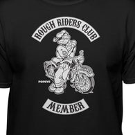 Popeye The Sailor Man Rough Riders Club Member Motorcycle T-Shirt