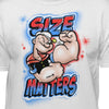 Popeye The Sailor Man Size Matters Official White T-Shirt