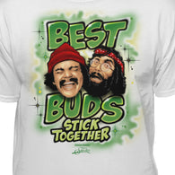 Cheech & Chong Best Buds Stick Together Vintage Airbrushed T-Shirt