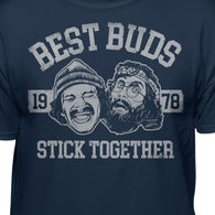 Cheech & Chong Best Buds Stick Together Collegiate T-Shirt