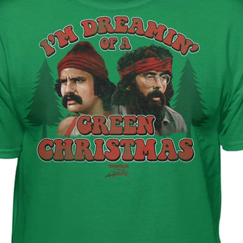 Cheech & Chong Up In Smoke Dreaming Of A Green Christmas T-Shirt