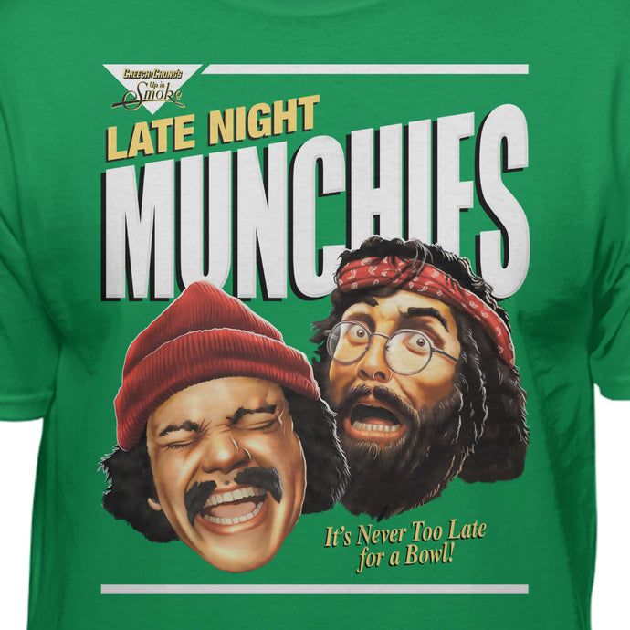 Cheech & Chong Late Night Munches It's Never Too Late For A Bowl T-Shirt