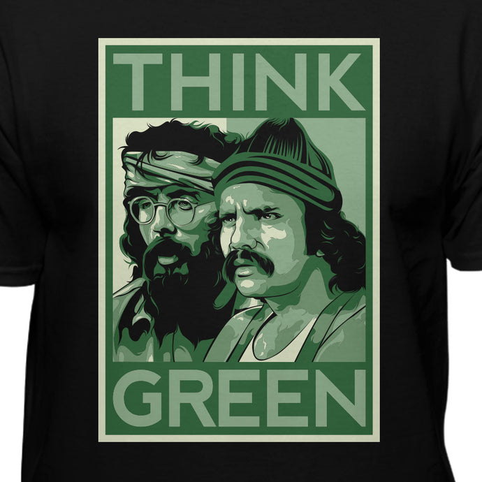 Cheech & Chongs Up In Smoke Think Green Official Licensed T-shirt