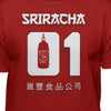 Sriracha Number One Hot Sauce Awesome Sauce Short Sleeve T-Shirt