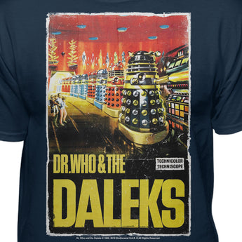 Doctor Who and the Daleks Poster Premiun Fitted T-shirt