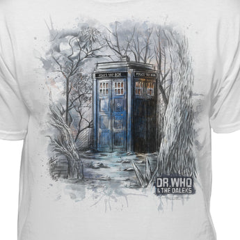 Doctor Who Watercolor Tardis Official Licensed T-Shirt