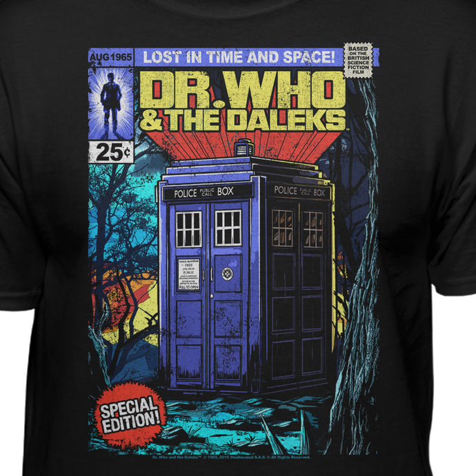 Doctor Who Comic Book Cover Tardis T-Shirt