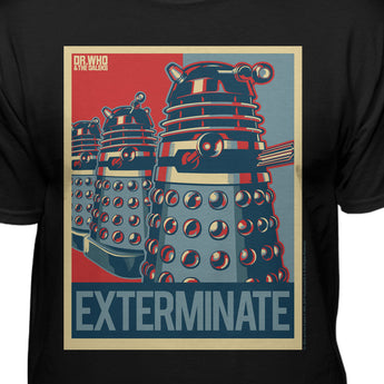 Doctor Who Tardis Dalek Exterminate Official Licensed T-Shirt