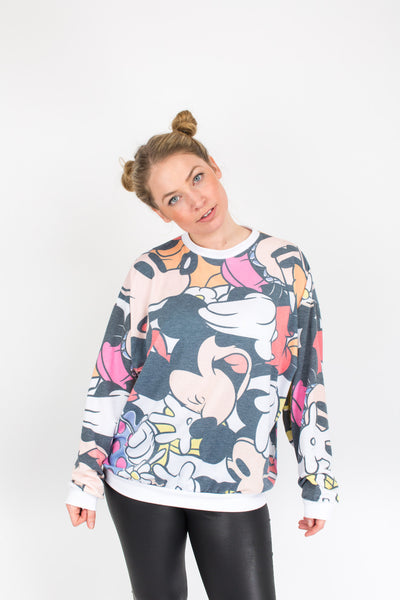 Hey Mickey You're So Fine Sweater - S/M/L