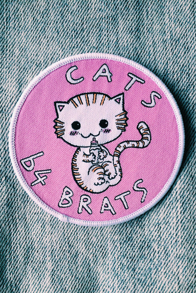 Cats b4 Brats Iron-on patch