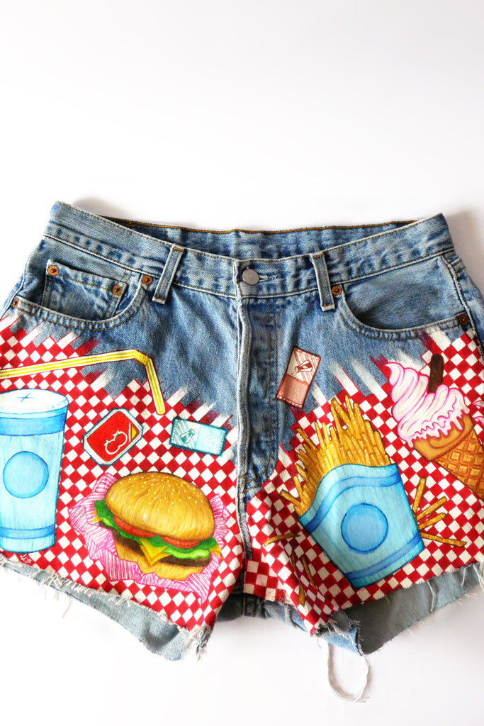Fast-food Booty Shorts - S/M/L