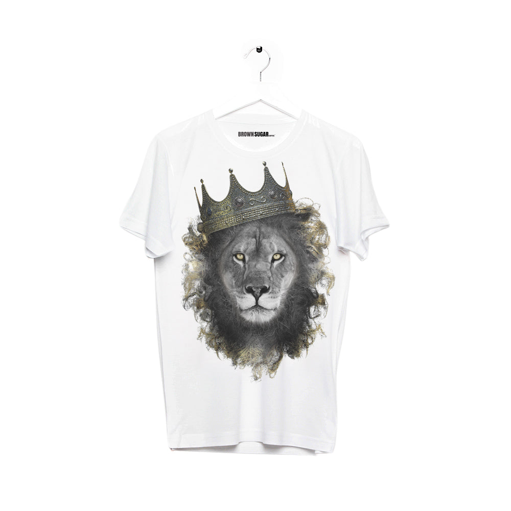 KING LION • ADULT TEE • WHITE