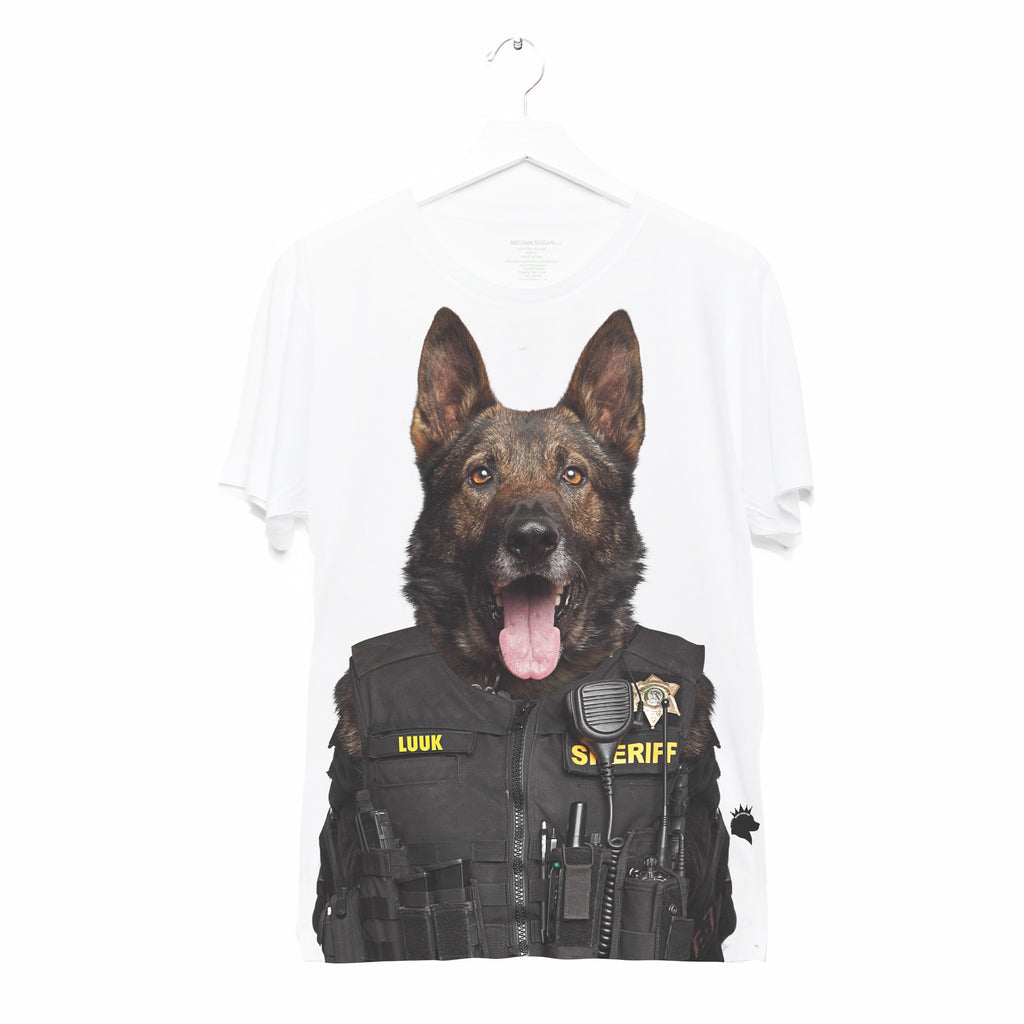 OFFICER LUUK • ADULT TEE • WHITE UNISEX