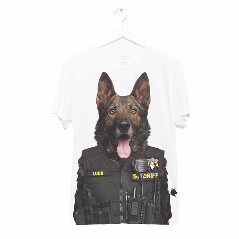 OFFICER LUUK • ADULT TEE • WHITE