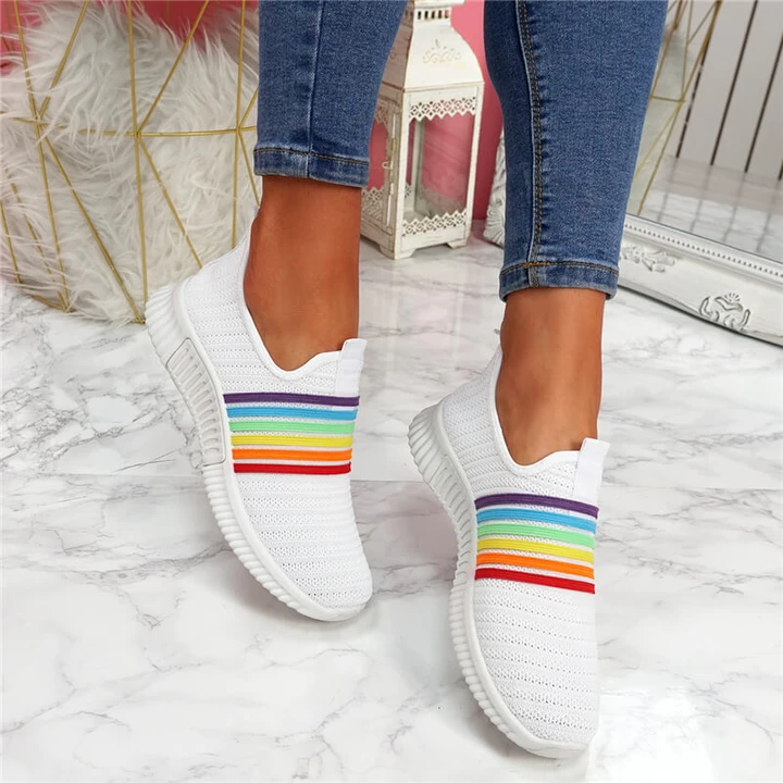 Rainbow Slip-On Sneakers