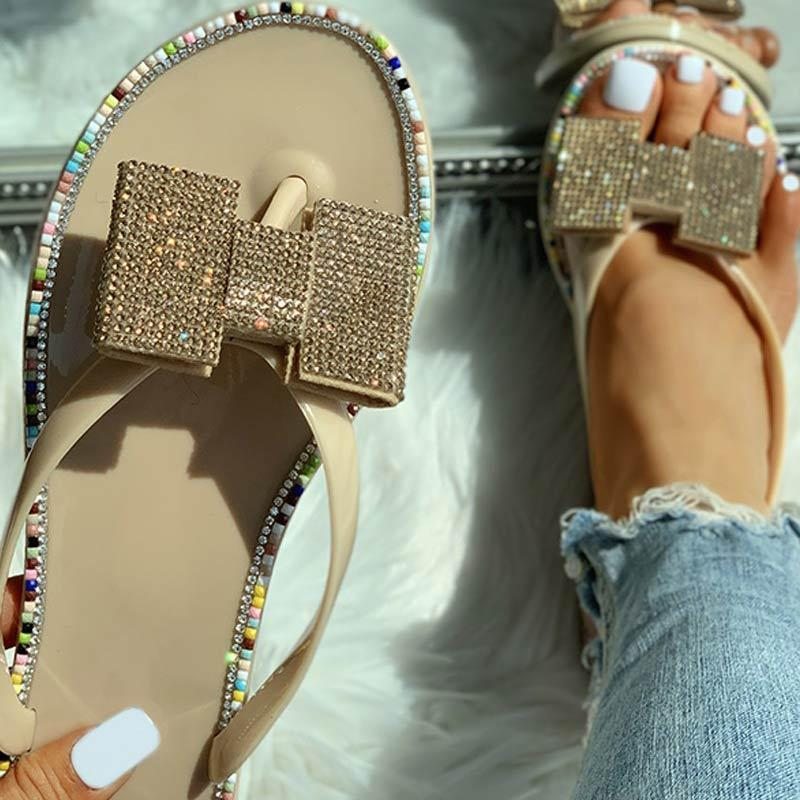 Toe Post Studded Flats