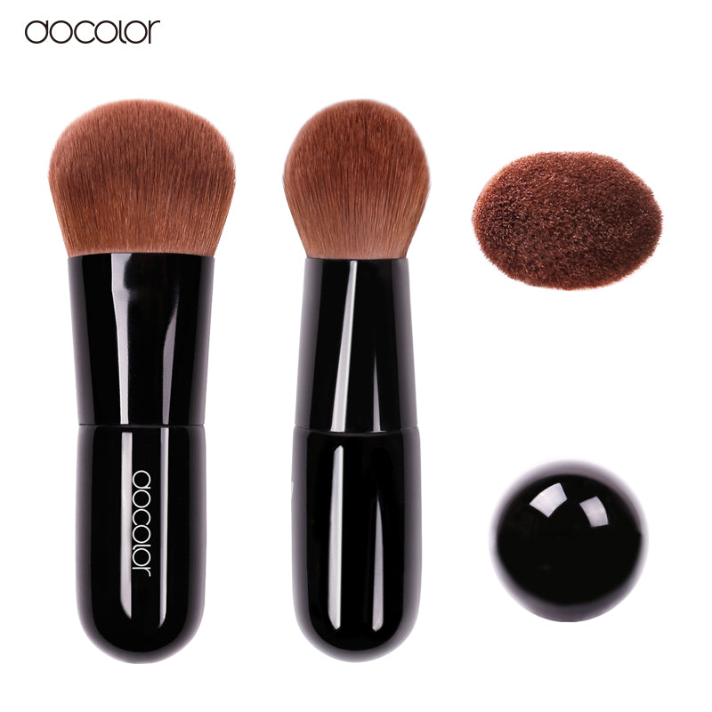 Soft Curved Bristles Docolor Kabuki Beauty Makeup Brush